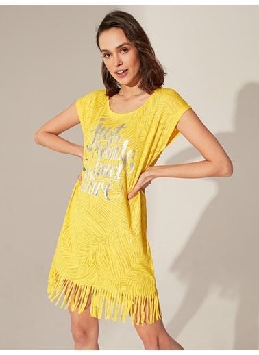 LC Waikiki Elbise Sarı